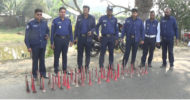 ঝিনাইদহে জেলা ট্রাফিক পুলিশের অভিযানে হাইড্রোলিক হর্ন জব্দ